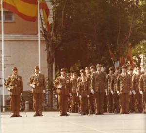 """El Príncipe de Asturias """"Soldado de Honor"""", en formación."""