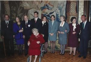 La familia del Rey el día de imposición a Don Juan de la Medalla de Oro de Navarra.