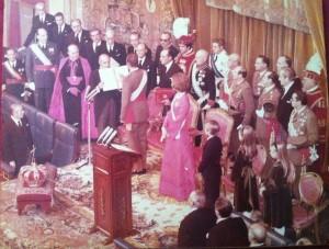 Proclamación en Las Cortes como Rey de España. ¡Viva el Rey!
