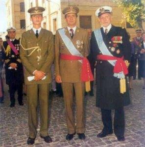Tres Reyes. Tres Españas. Única España.