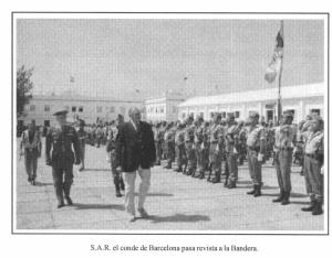 JUAN DE BORBON-legion- del libro 75 aniversario legion española