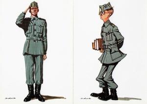 07 AGM Uniforme Gris 1943 Postal Salas