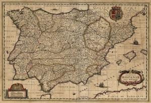 """""""Nueva descripción de los reinos de España"""". 1631. William Bleu"""