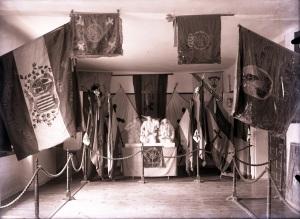 Sala banderas museo carlista recuerdos historicos