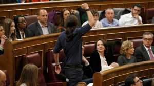 Los-diputados-de-Podemos-en-la-sesión-constitutiva-del-Congreso.-Foto-Efe.
