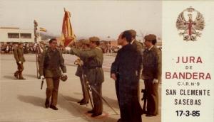 jura de bandera cir 9 san clemente de sasebas 17-3-85
