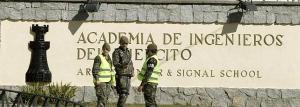 MD52. MADRID, 24/2/2011.- Exterior de la Academia de Ingenieros situada en la localidad madrileña de Hoyo de Manzanares, donde la explosión que se ha registrado hoy en el campo de tiro ha provocado la muerte de cinco militares y varios heridos. EFE/Emilio Naranjo TELETIPOS_CORREO:%%%,%%%,SUCESOS,%%%