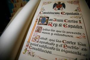 Madrid/05/12/07/ Constitucion Espa–ola (Facsimil) En la imagen: Facsimil de la Constitucion Espa–ola de 1978. Foto: Gabriel Pecot