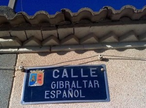 FOTO 3. Una de las 7 calles españolas con el nombre de Gibraltar Español